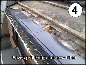 Fitting eaves protector