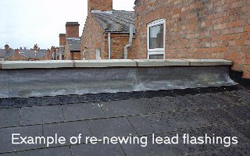 lead flashing before